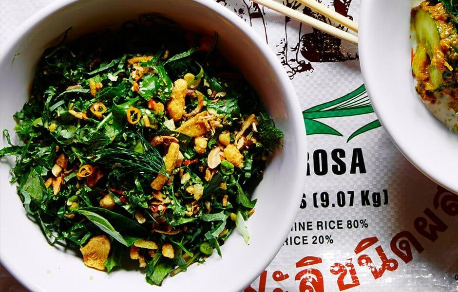 Salade de Kale, chou frisé vert