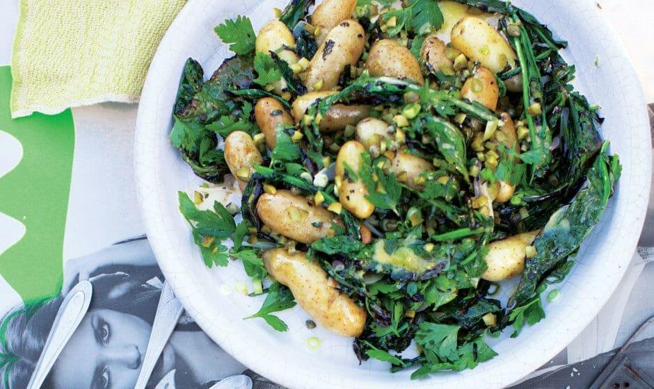 Salade de Kale grillé et pommes de terre