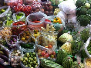 Marché de fruits et légumes à Bangkok