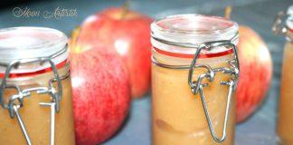 Compote de pomme du jardin, à la cannelle