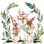 Amber Ma, aquarelle Pinocchio Eve et Adam