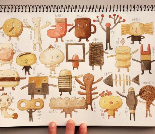 sculptures en bois de l'artiste TaÏwanais Yen Jui-Lin