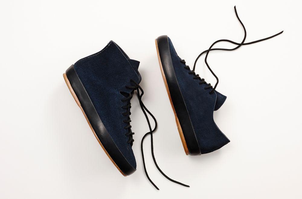 9 - Chaussures FEIT - hero daim bleu marine