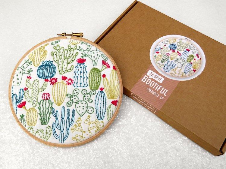 Kit de broderie Cactus par Oh Sew Bootiful
