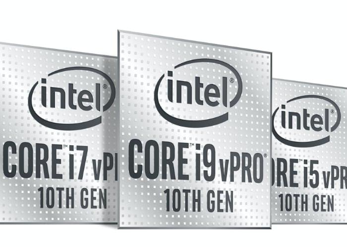 Processeurs Intel 10e génération Core vPro