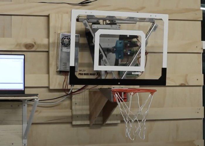 Panneau de basket-ball robotique