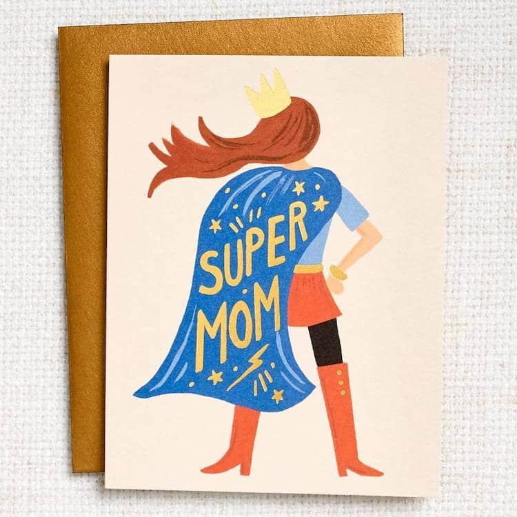 Carte Super Mom