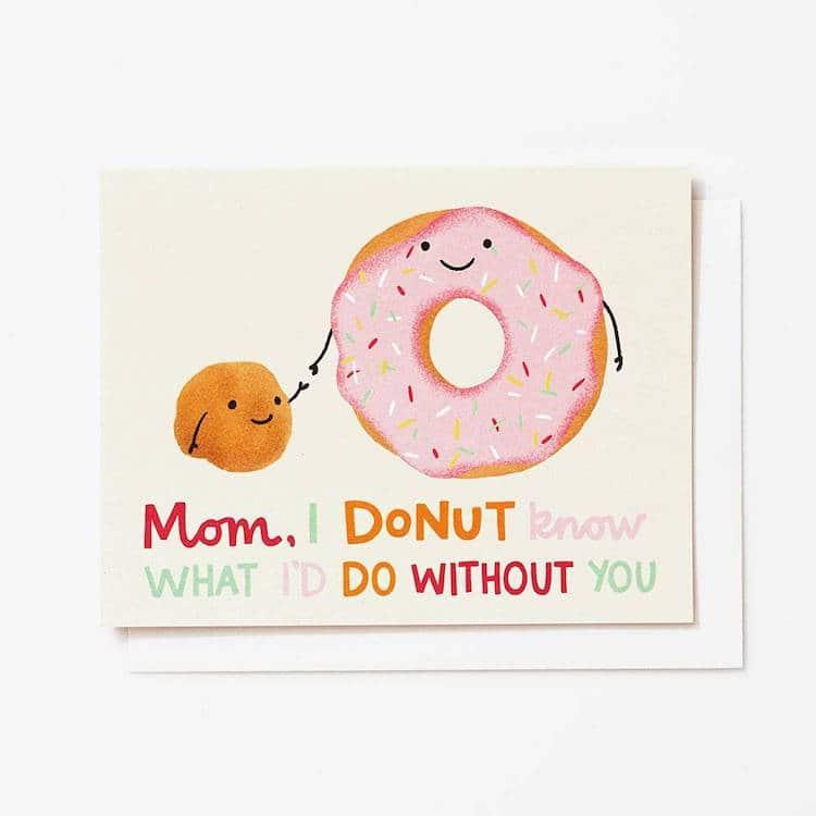 Carte de voeux Donut Pun