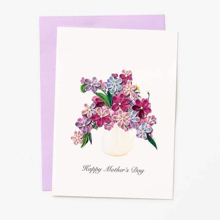 Carte de fête des mères en papier