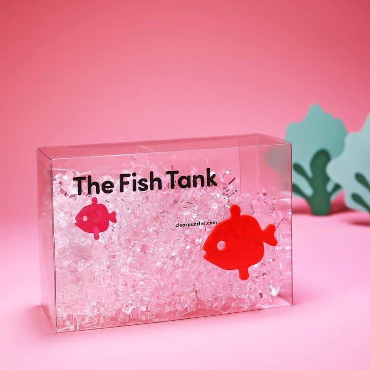 Puzzle transparent inspiré d'un aquarium
