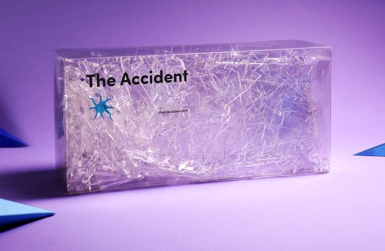 Puzzle transparent inspiré du verre brisé