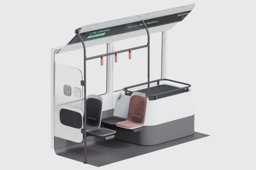 schéma de bus avec deux sièges espacés