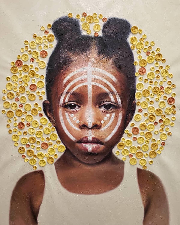 Mixed Media Portrait of a Black Girl par Nneka Jones
