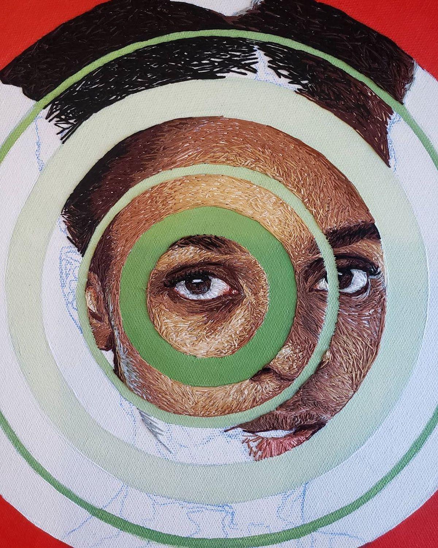 Mixed Media Portrait of a Black Girl par Nneka JonesMixed Media Portrait of a Black Girl par Nneka Jones