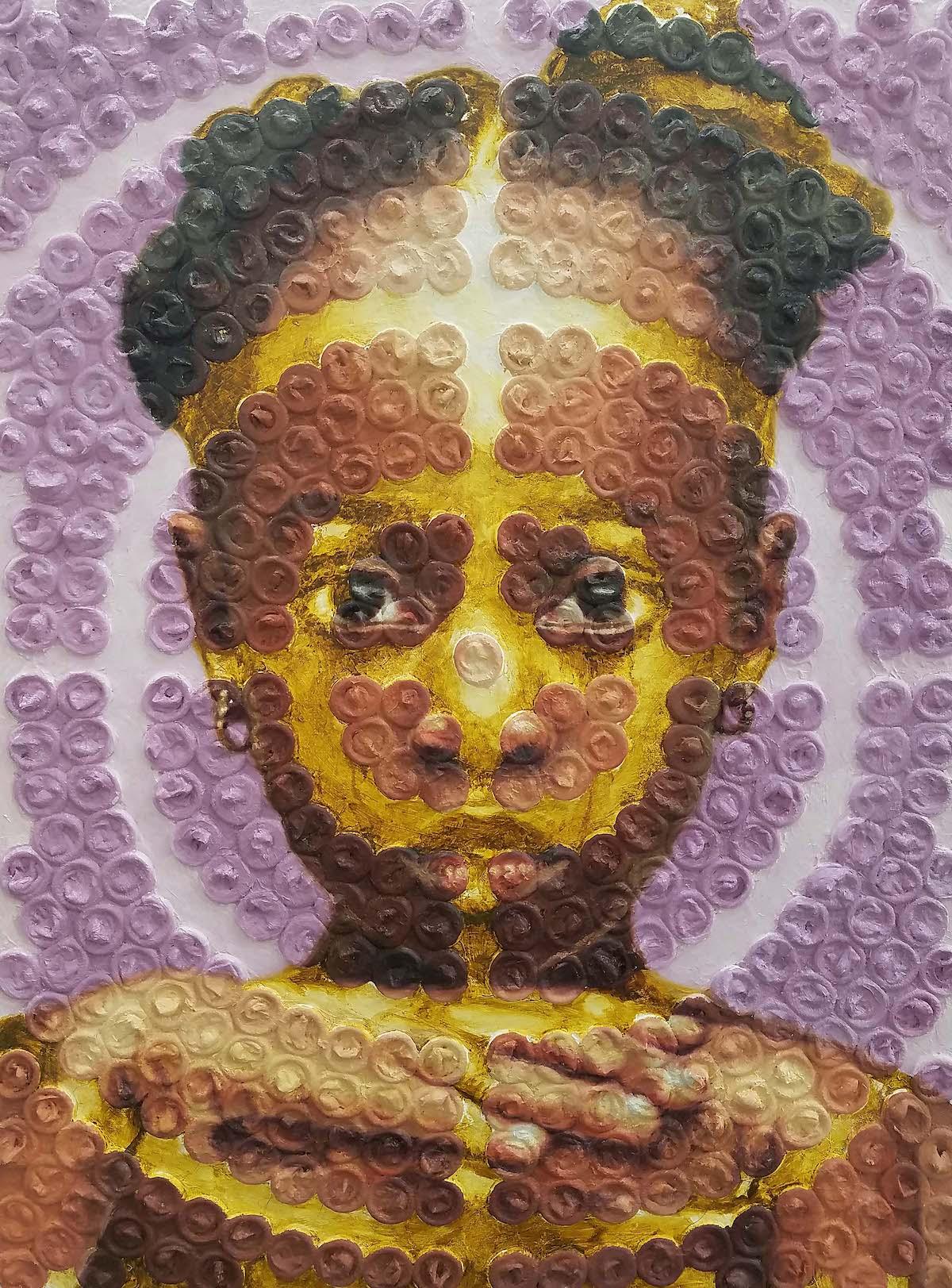 Portrait technique mixte par Nneka Jones