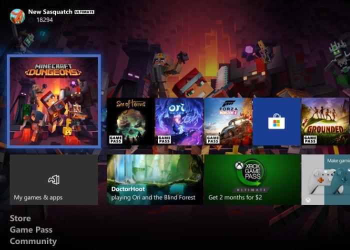 Mise à jour Xbox juin 2020