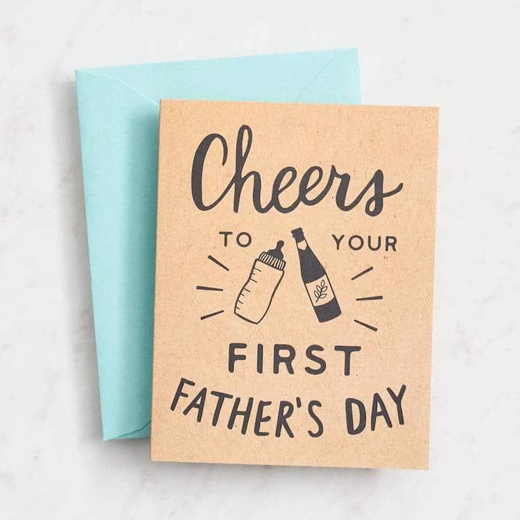 Carte de la première fête des pères
