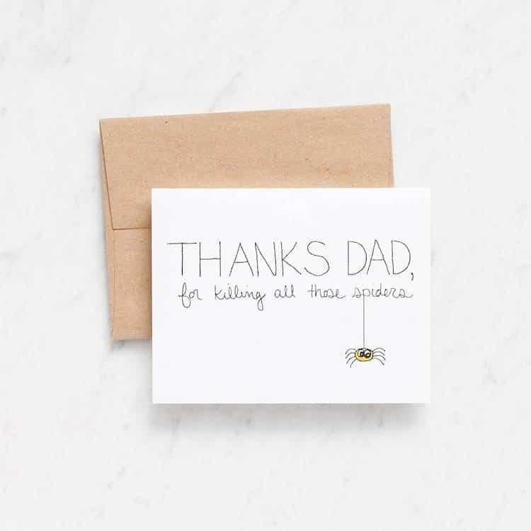 Carte de fête des pères drôle