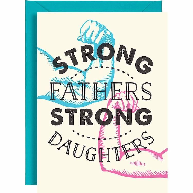 Carte de fête des pères père fille