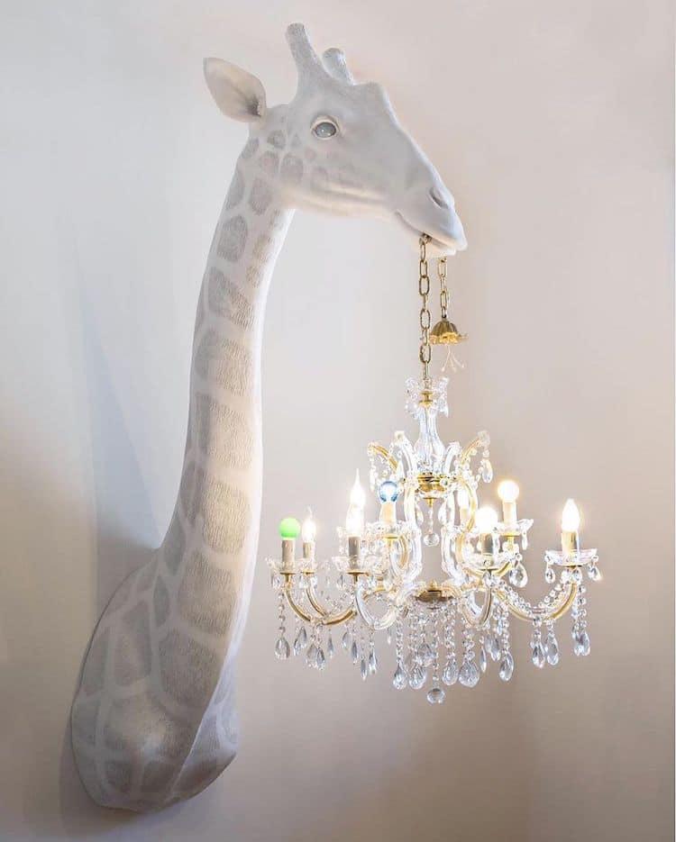 Lustres Girafe par Marcantonio