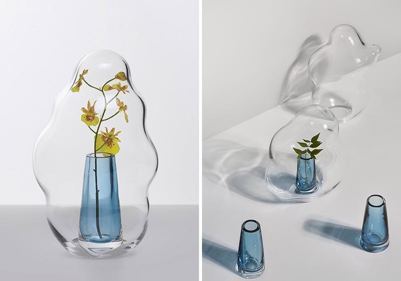 Yuhsien Design Studio a créé une collection de vases modernes qui ont été inspirés par l'apparence irrégulière et unique des bulles. #ModernVases #ModernDecor #Flowers #Florist
