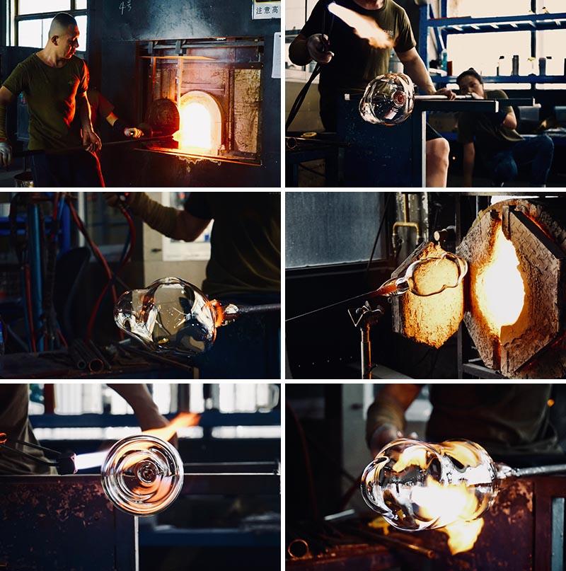 Yuhsien Design Studio a créé une collection de vases modernes qui ont été inspirés par l'apparence irrégulière et unique des bulles.