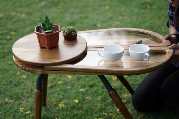 Conception de table d'inspiration coccinelle