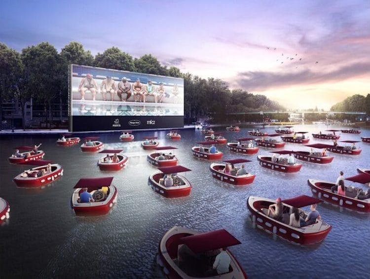 Cinéma flottant pour Paris Plages 2020