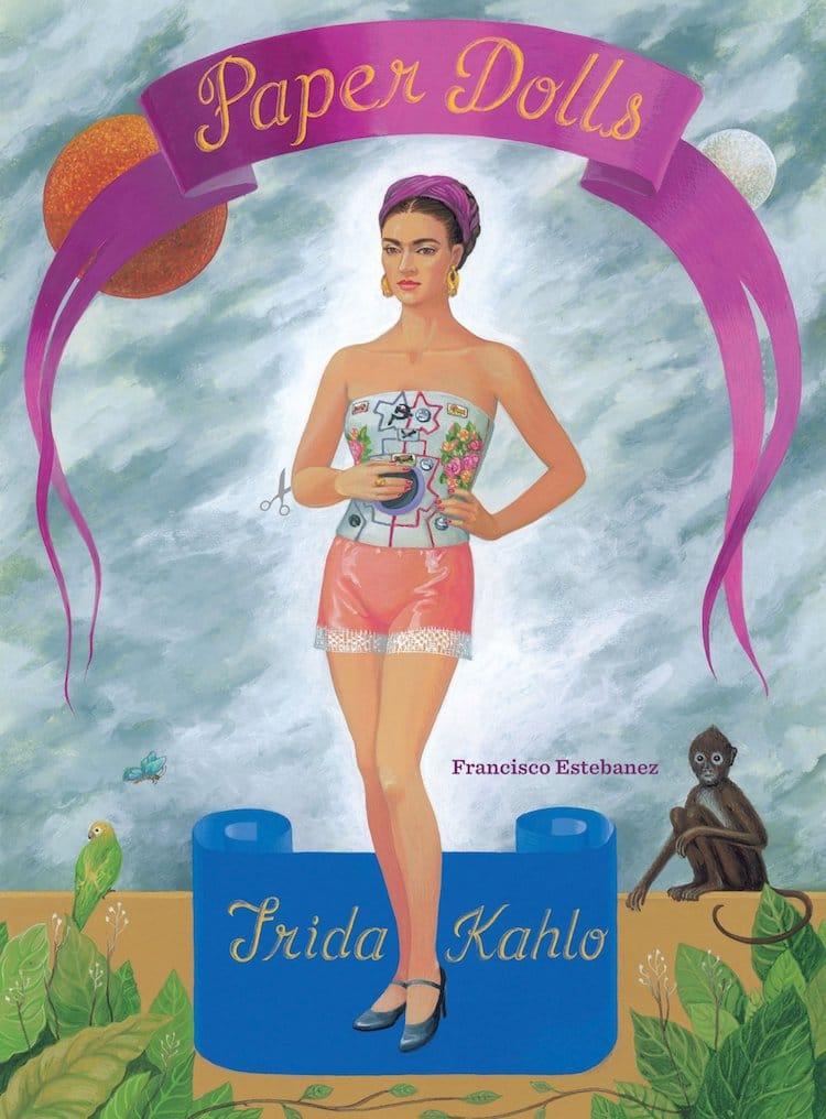 Ensemble de poupées en papier Frida Kahlo