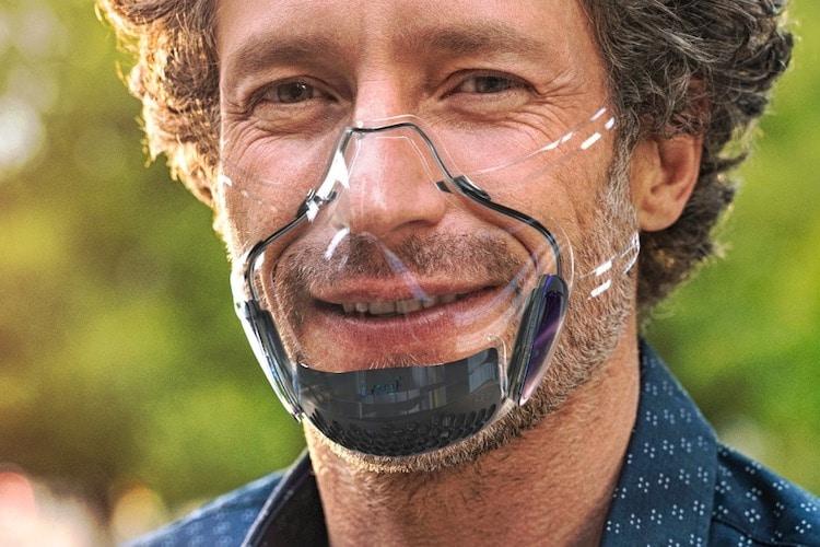 Masque transparent LEAF