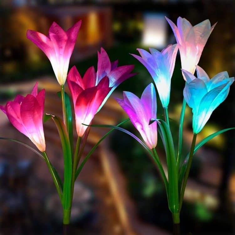 Lampes Solaires Fleur de Lys par Doingarte