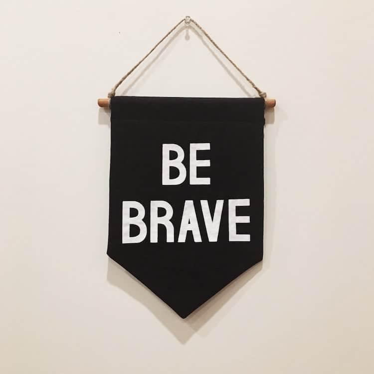 Soyez courageux bannière