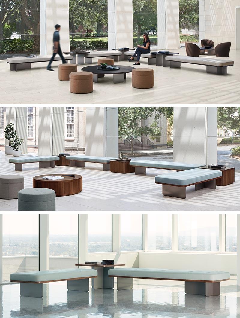 Terry Crews a conçu Elevation, un système modulaire de bancs, poufs et tables