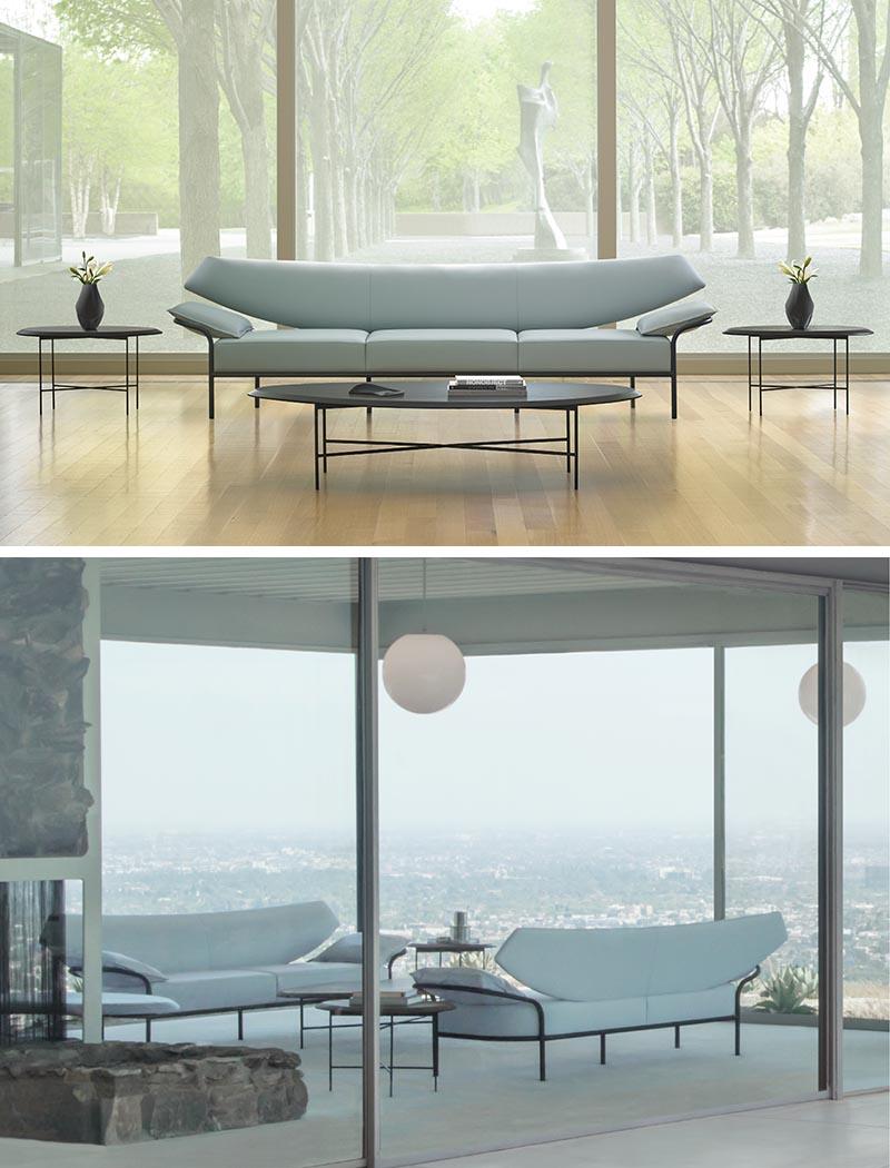 Terry Crews a conçu Ibis, un salon deux ou trois places qui présente une courbe douce à son design.