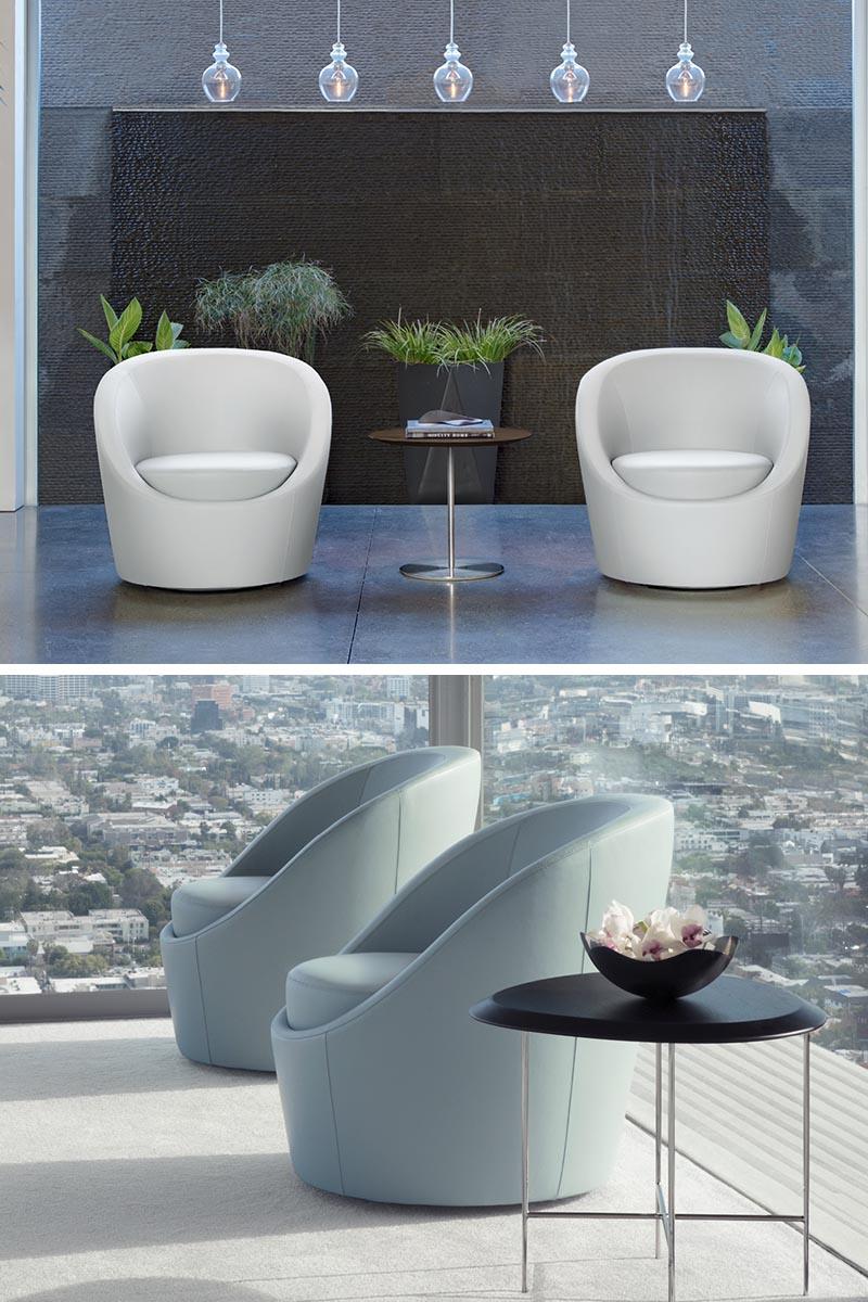 Terry Crews a conçu Lily, un fauteuil rembourré autonome, moderne et fixe.