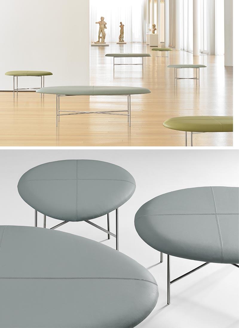 Terry Crews a conçu Aire, un banc minimaliste avec une forme organique incurvée.