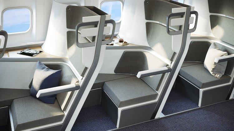 Siège d'avion à distance sociale par Zephyr Aerospace