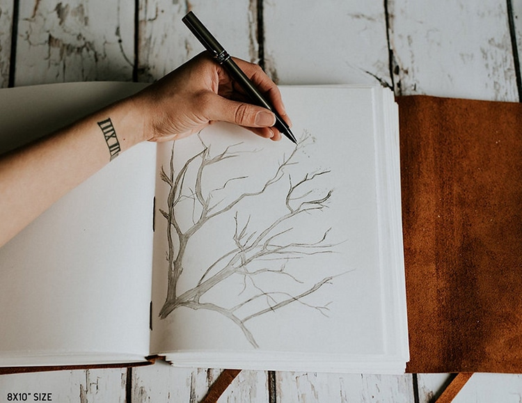 Journal d'artistes en cuir