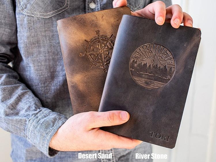 Journal en cuir personnalisable