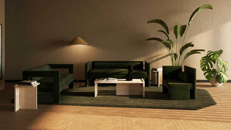 Série de meubles sculpturaux par TRNK