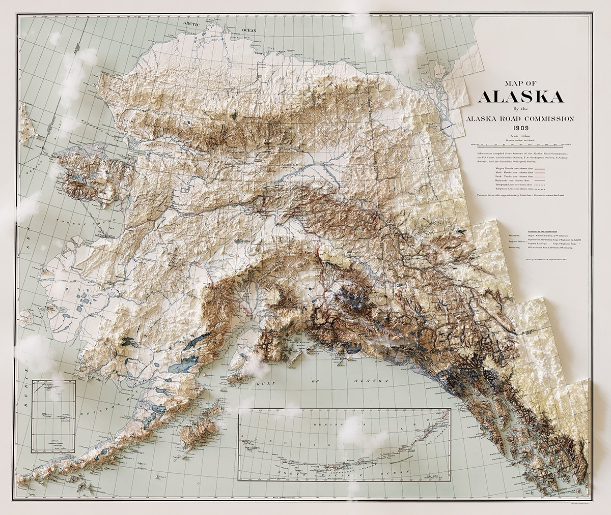 Carte des nuages de l'Alaska