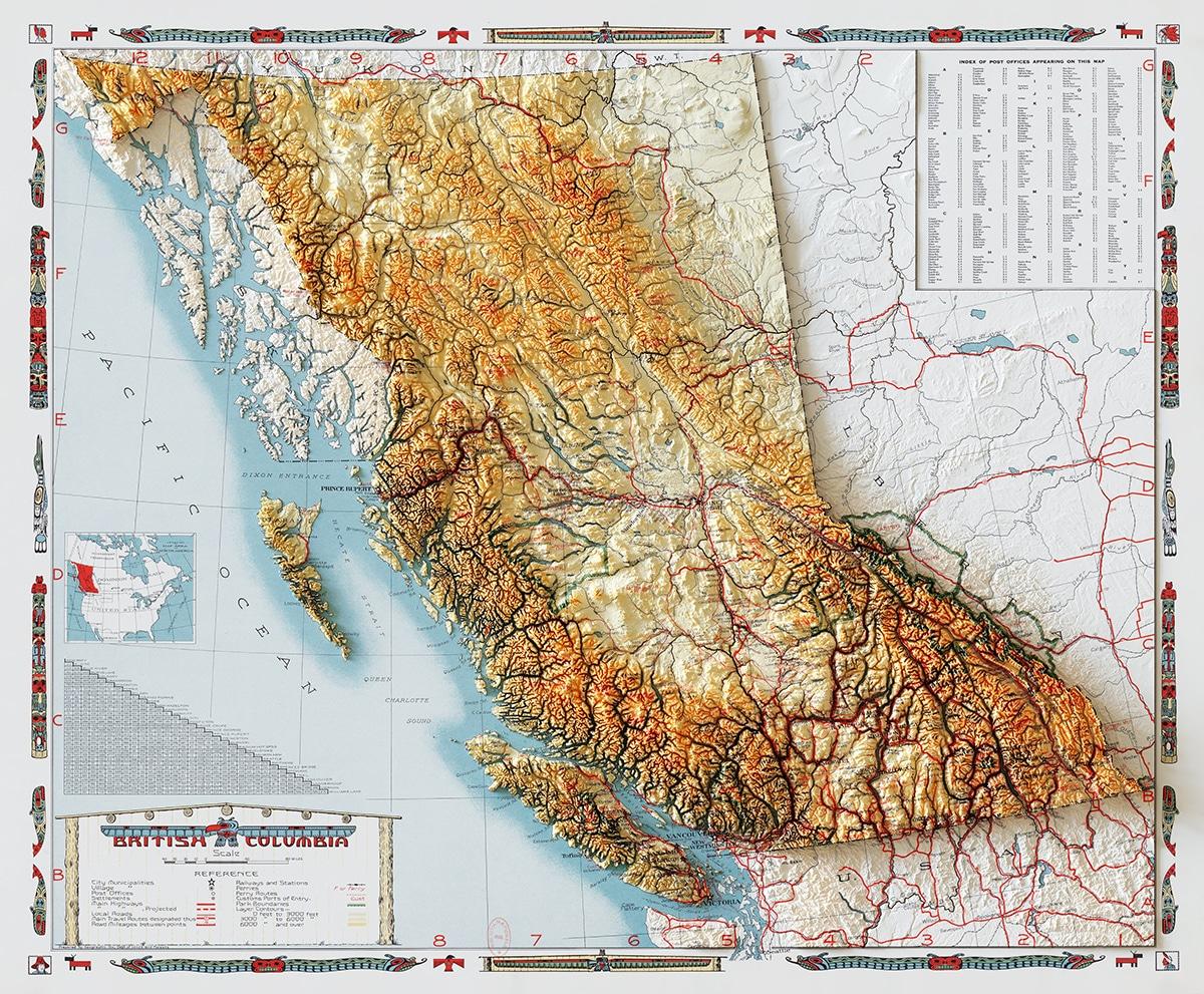 Colombie-Britannique 1946 Données d'élévation Sean Conway