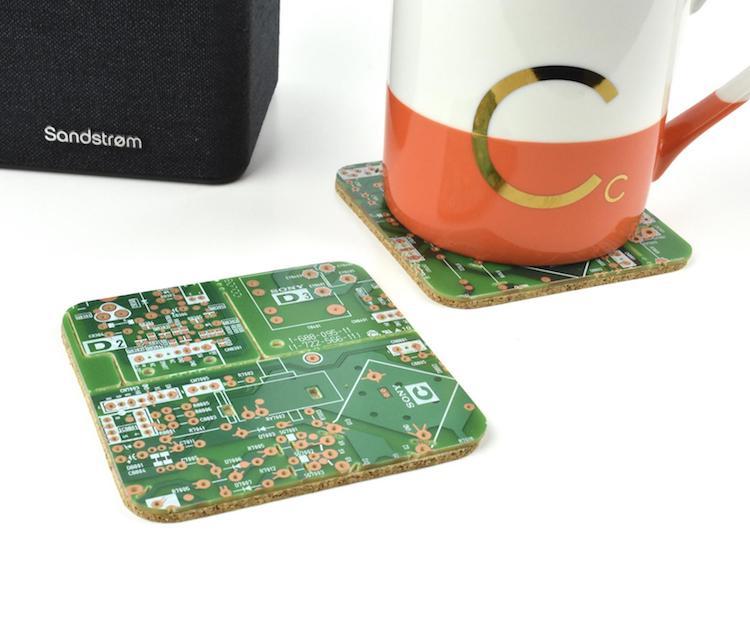 Sous-verres de circuits imprimés