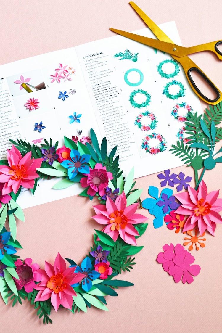Kit floral en papier
