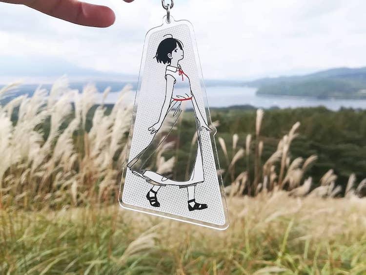 Porte-clés en acrylique par Kamome Fuyuno