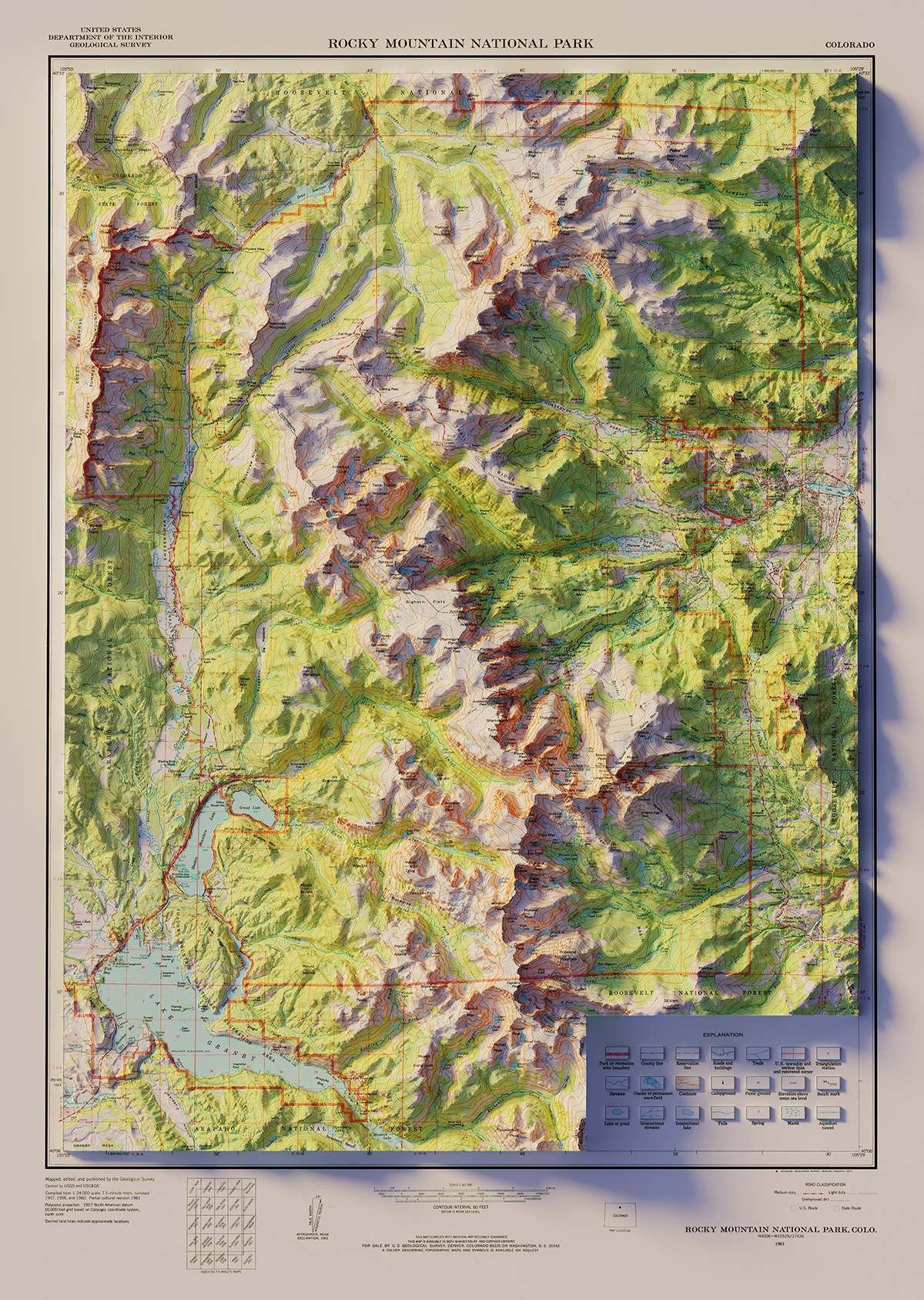 Voyage vintage du parc national des montagnes Rocheuses