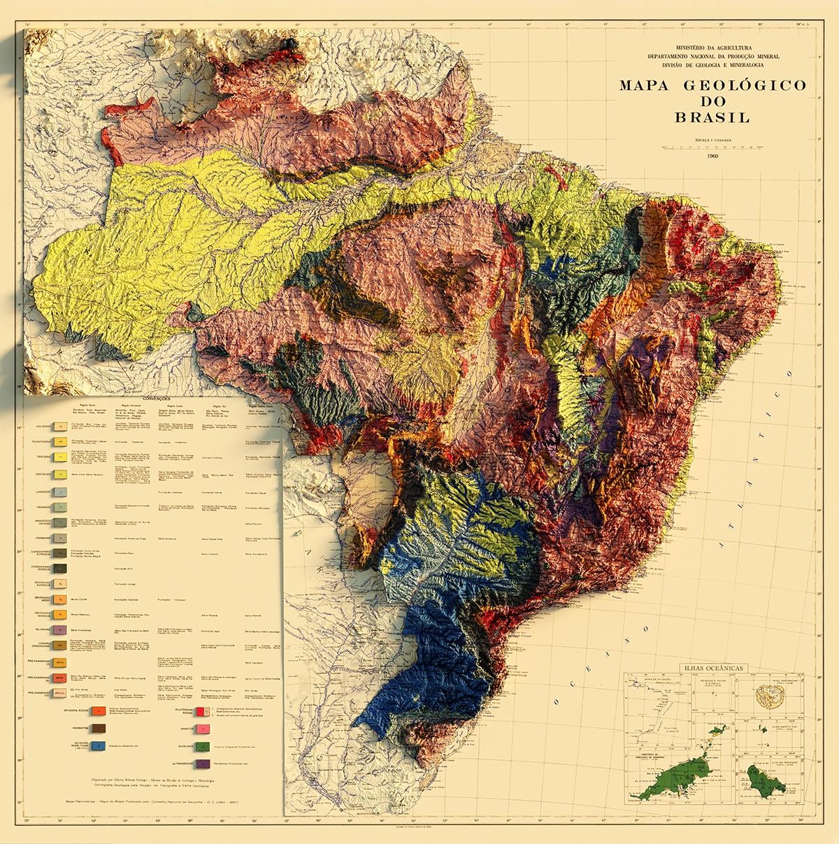Élévation de la carte du Brésil Sean Conway