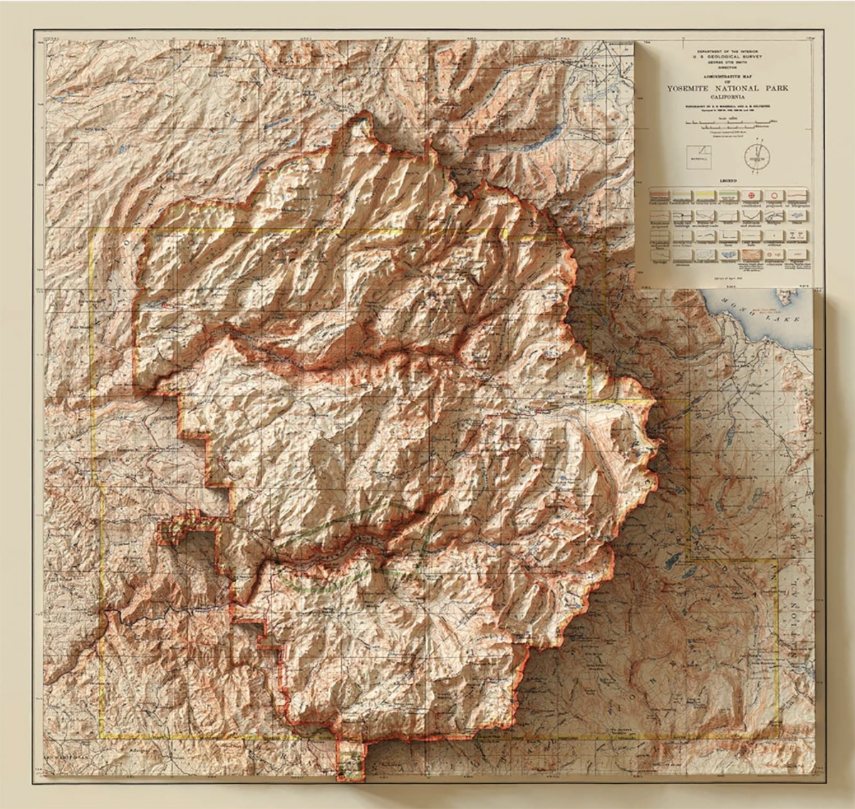 Yosemite: carte