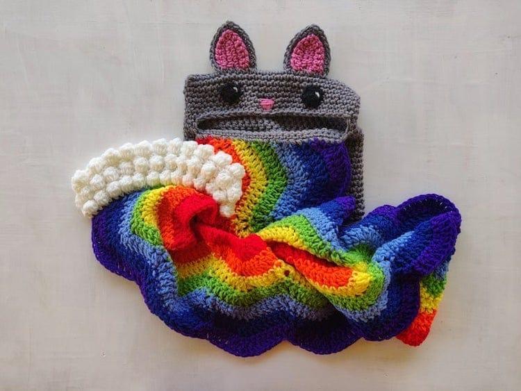 Écharpe Rainbow Cat Barf