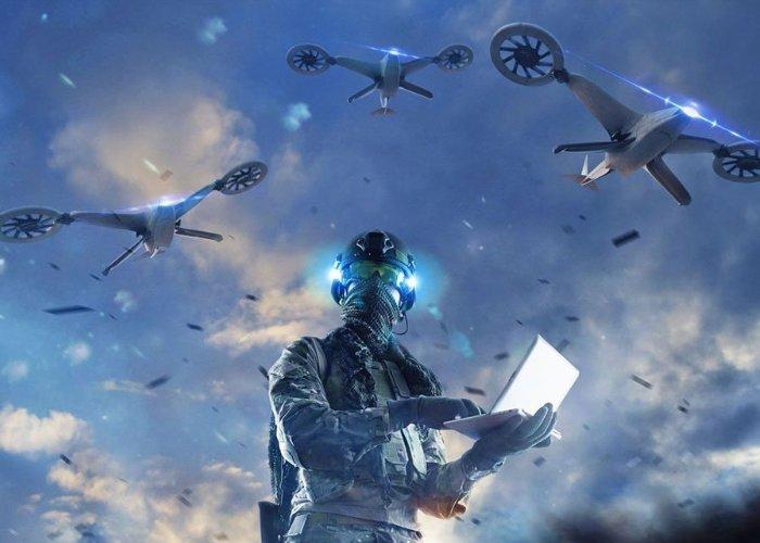 essaim de drones
